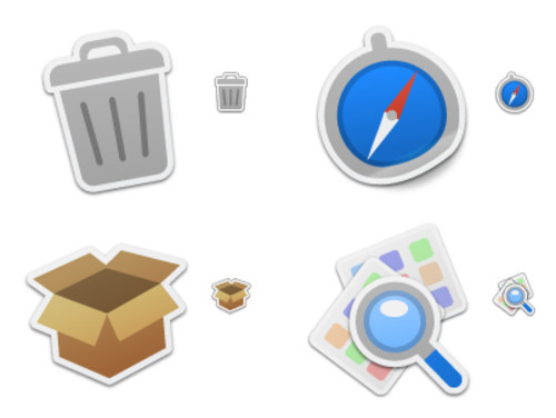 Freebies Icons - Iconfactory : Freeware : Sticker Pack 1