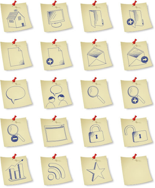 Freebies Icons - DryIcons | Free Icons | Sketchy Paper Icon Set