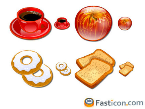 Freebies Icons - COFFEE BREAK - icons inspired in some delicious coffee foods. | Fast Icon - Free stock icons.