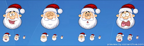 santa claus icons Christmas Design Resources: Santa Claus