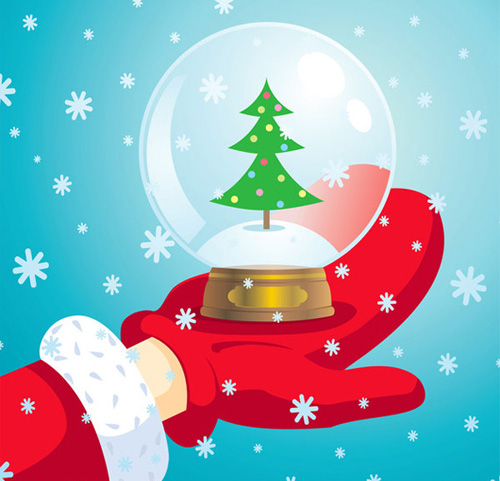 santa claus snow ball Christmas Design Resources: Santa Claus