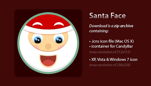 santa face icon Christmas Design Resources: Santa Claus