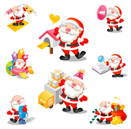 santa icons 1 Christmas Design Resources: Santa Claus