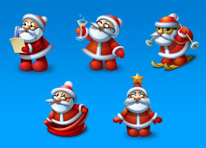 santa icons Christmas Design Resources: Santa Claus