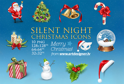 silent night xmas Christmas Design Resources: Santa Claus