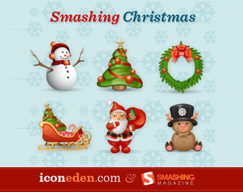 smashing xmas Christmas Design Resources: Santa Claus