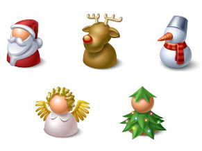 xmas buddy icons Christmas Design Resources: Santa Claus