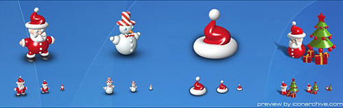 xmas dock icons Christmas Design Resources: Santa Claus