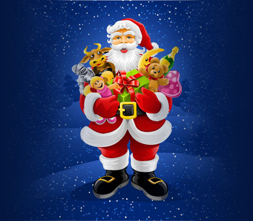 xmas santa claus 1 Christmas Design Resources: Santa Claus