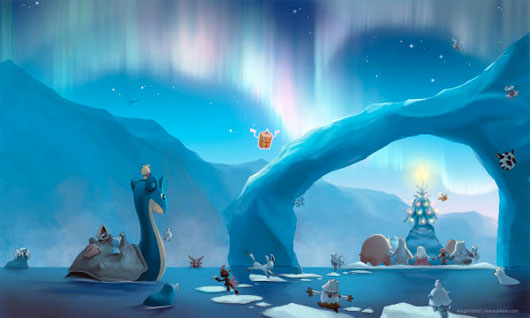 arctic christmas 50 Christmas and New Year Desktop Wallpapers